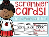 Sight Word Scrambler Cards