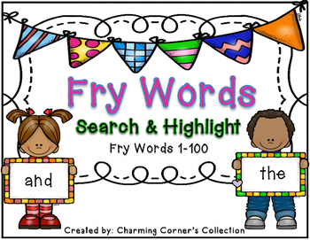 Fry Word Search & Highlight Set 1