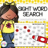 Sight Word Search - 25 High Frequency Words