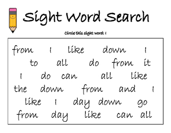 Journeys Unit 1 Sight Word Search