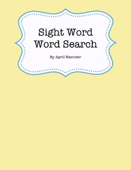 Sight Word Search No prep