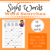 Sight Word Search - 48 first sight words for preschool and