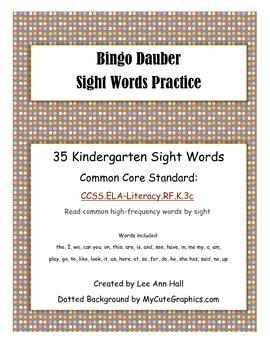 Sight Word Search - Bingo Dauber