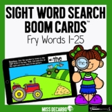 Sight Word Search Boom Cards™️ - Fry Words 1-25