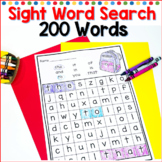Sight Word Search for Kindergarten and First Grade