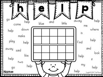 Sight Words Search and Count Pre-Primer Dolch Words