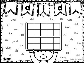 Sight Words Search and Count {Primer Words}