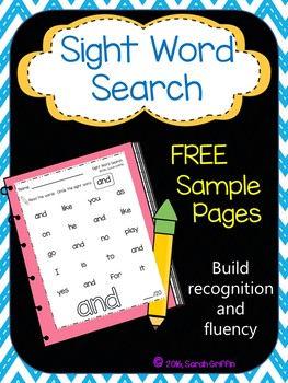 Sight Word Search - Free Sample