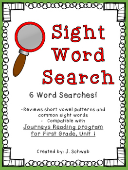 Sight Word Search- Unit 1