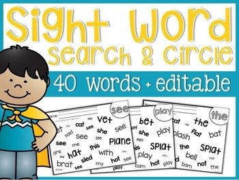 Sight Word Search and Circle