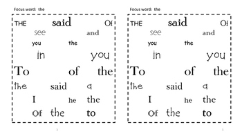 Sight Word Search and Find #1