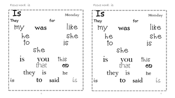 Sight Word Search and Find #2
