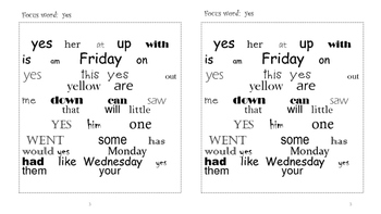 Sight Word Search and Find #6