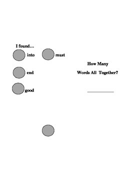Sight Word Search-into good end must