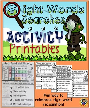 Sight Word Searches Activity Printables