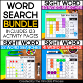 EDITABLE Sight Word Searches Bundle