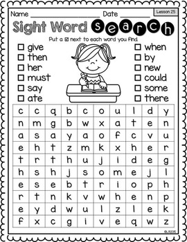 Unusual image regarding kindergarten word search printable