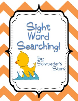 Sight Word Searching