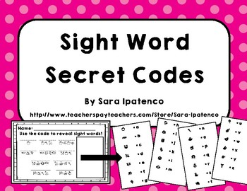 Sight Word Secret Code Spelling Practice