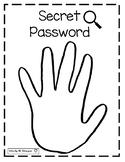 Sight Word Secret Password Sign