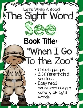 Sight Word See - Trace the Word, Color the Picture and Write the Word