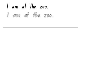Sight Word Sentence Book