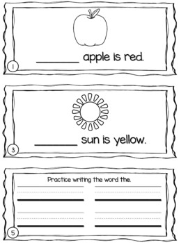 Sight Word Sentence Booklets Units 1-3 {For Use With Kindergarten Journeys}