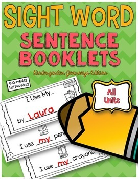 Sight Word Sentence Booklets {Compatible With Kindergarten