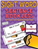 Sight Word Sentence Booklets {Pre-Primer and Primer Edition}