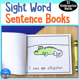 Sight Word Sentence Books for Kindergarten