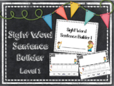 Sight Word Sentence Builder Level 1