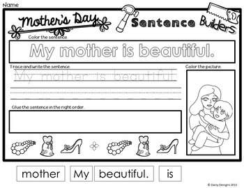 Sight Word Sentence Builders - Mother's Day FREEBIE