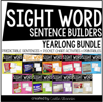Sight Word Sentence Builders for the Year {The BUNDLE}