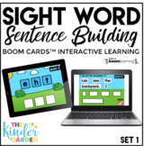 Sight Word Sentence Building | Boom Cards Predictable Sent