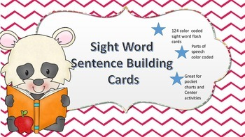Sight Word Sentence Building Cards