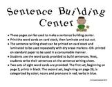 Sight Word Sentence Building Center