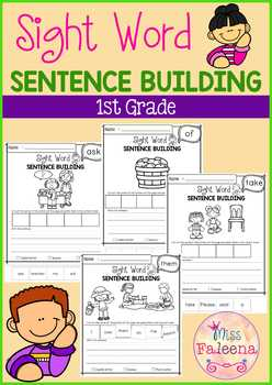 Sight Word Sentence Building (First Grade)