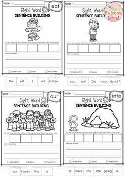 Sight Word Sentence Building Bundle