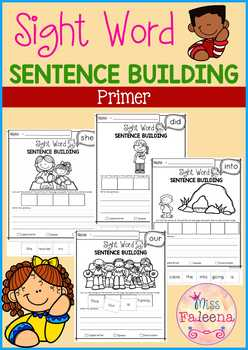 Sight Word Sentence Building (Primer)