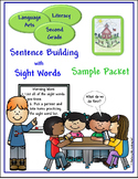 Sight Word Sentence Building Second Grade