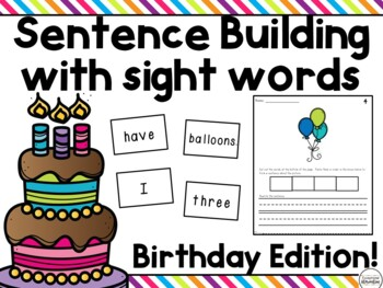 Sight Word Sentence Building for Emerging Readers