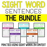 Sight Word Sentence BUNDLE