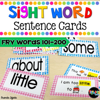 Sight Word Sentence Cards Set 2: Fry Words 101-200- Common Core