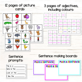 Sight Word Sentence Cards with pictures