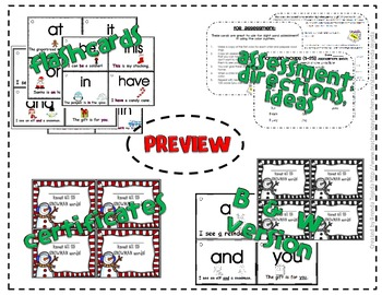 Sight Word Sentence Flashcards- Christmas version!