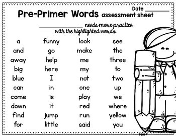 sight word sentence flashcards dolch pre primer