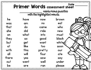 Sight Word Sentence Flashcards: DOLCH Primer