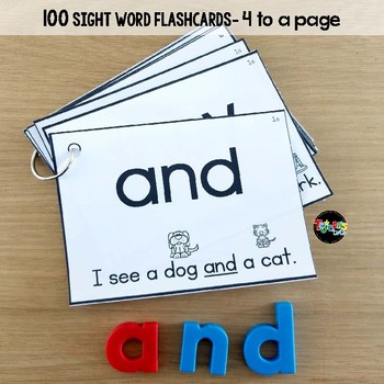 Sight Word Flashcards and Assessment System