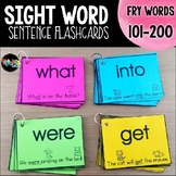 Sight Word Sentence Flashcards and Assessment System: Fry Words 101-200
