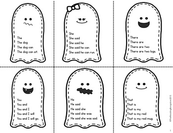 Sight Word Fluency Sentences {Halloween Edition}
